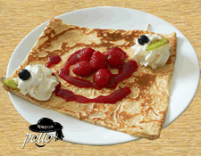 Crêpe fruits rouges & chantilly