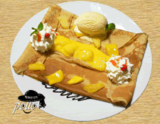 Crêpe fruits exotiques & glace vanille